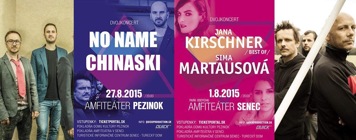 Uskutočnili sme koncerty !!! Jana Kirschner a Sima Martausová, No Name & Chinaski